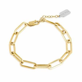 Flat Rectangle Chain Bracelet
