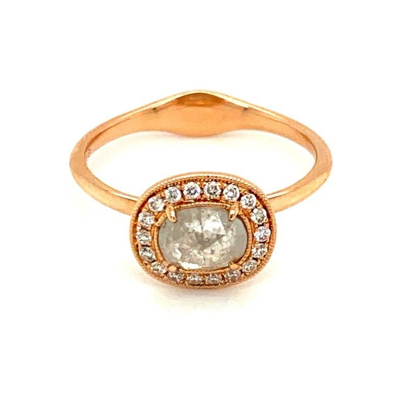 Murphy Pitard Signature Collection Rose Cut Diamond Halo Ring