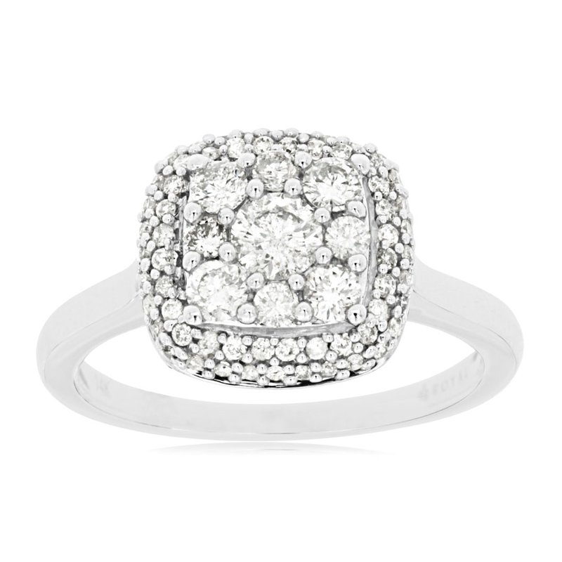 Murphy Pitard Signature Collection Diamond Cluster Halo Engagement Ring