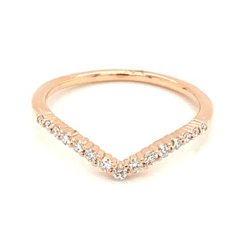 Contoured Diamond Anniversary Band