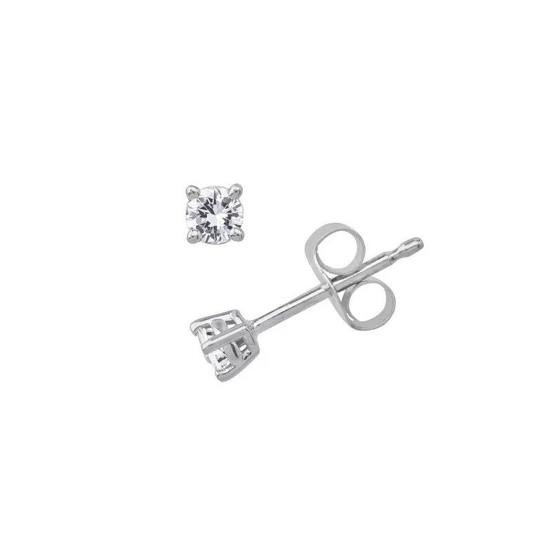 Murphy Pitard Signature Collection Diamond 1/4 Carats Stud Earrings Traditional Basket Settings