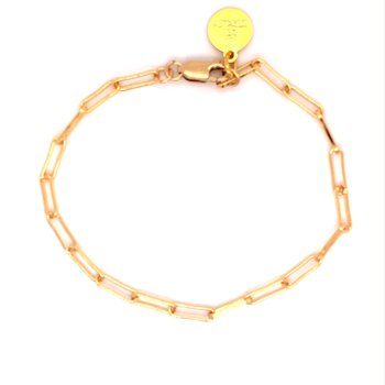 Small Gold-Filled Paperclip Bracelet