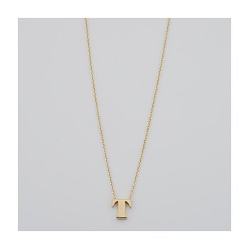 Polished T Initial Necklace