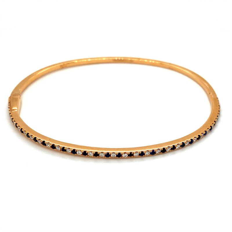 Murphy Pitard Signature Collection Sapphire & Diamond Bangle Bracelet