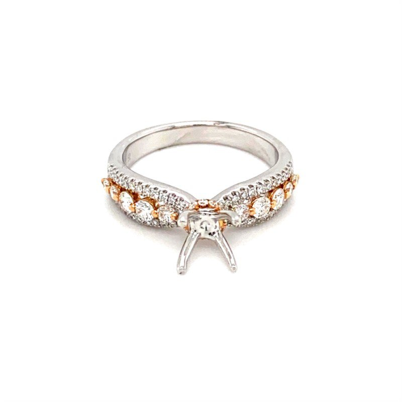 Murphy Pitard Signature Collection Diamond Hidden Halo Princess Crown Engagement Ring