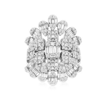 Diamond Cluster Right Hand Fashion Ring
