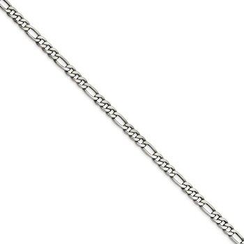 Stainless Steel 6.75 Millimeter Figaro Chain