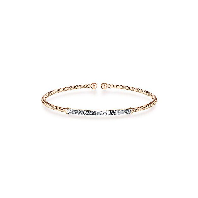 Gabriel & Co. New York Diamond Bujukan Pavé Bar Cuff Bracelet