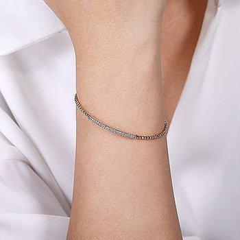 Diamond Bujukan Pavé Bar Cuff Bracelet
