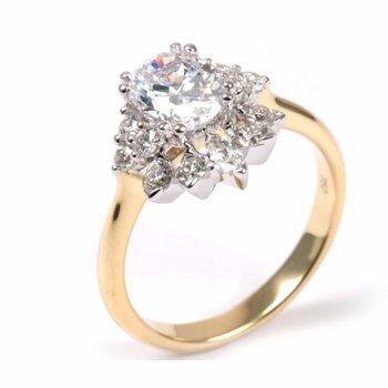 Diamond Tiara Inspired Oval Engagement Ring