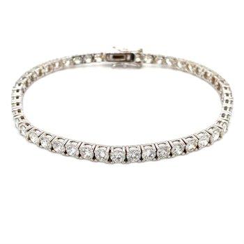 Round Diamond 8 1/4 Carat Tennis Bracelet
