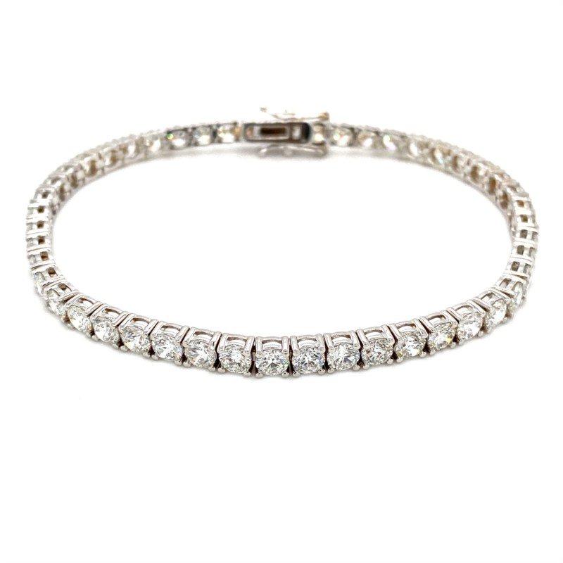 Murphy Pitard Signature Collection Round Diamond 8 1/4 Carat Tennis Bracelet