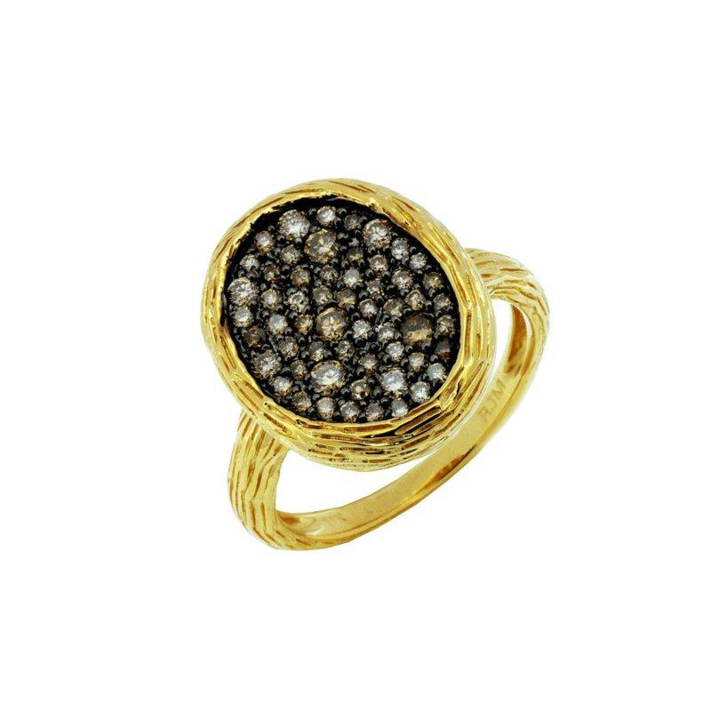 Murphy Pitard Signature Collection Mocha Diamond Pavé Fashion Ring