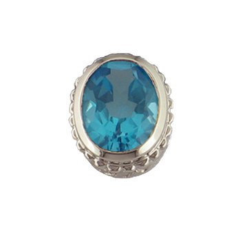 Caerleon Oval Faceted Blue Topaz Insert Bezel