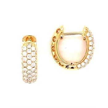 Diamond 3/4 Carats Huggie Hoop Earrings