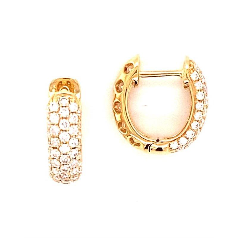Murphy Pitard Signature Collection Diamond 3/4 Carats Huggie Hoop Earrings