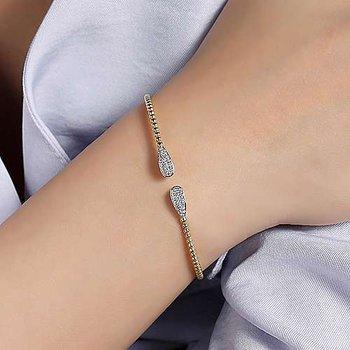 Diamond Tear Drop Bujukan Cuff Bracelet