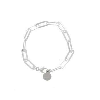 Large Sterling Silver Paperclip Bracelet
