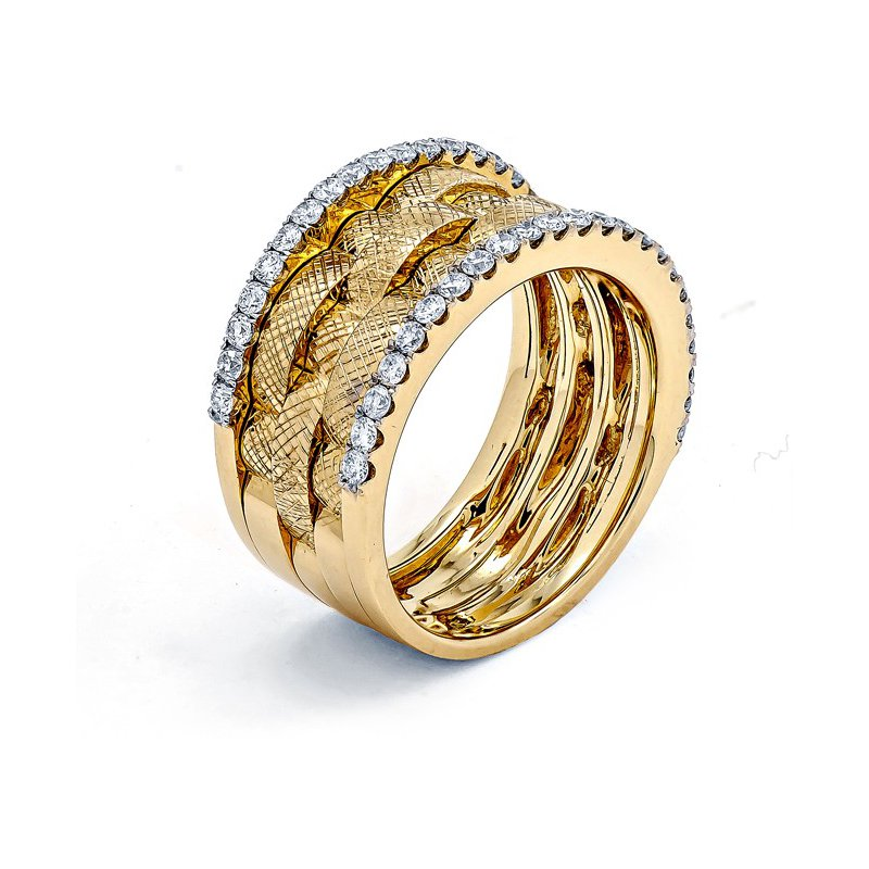 Murphy Pitard Signature Collection Diamond Woven Fashion Band