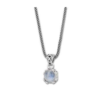 Rainbow Moonstone Drop Pendant Necklace