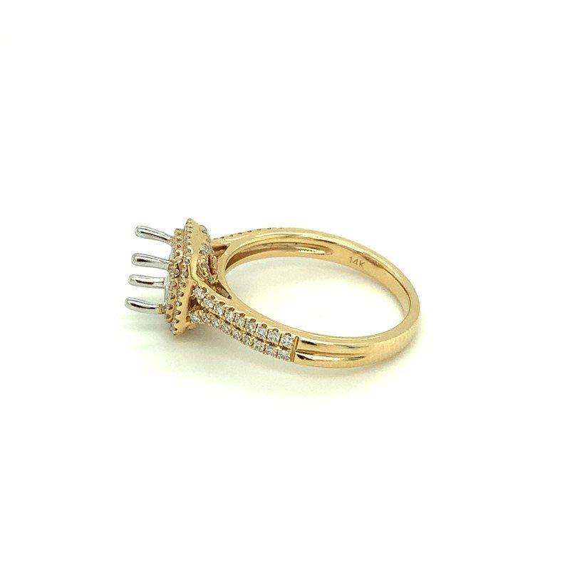 Murphy Pitard Signature Collection Cushion Double Halo Diamond Engagement Ring