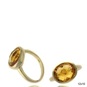 Contemporary Citrine Fashion Ring