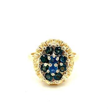 Sapphire Cluster Dinner Ring