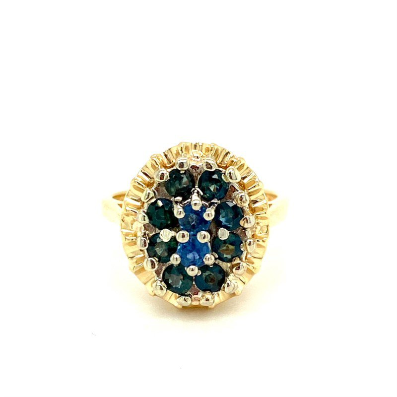 Murphy Pitard Estate Collection Sapphire Cluster Dinner Ring