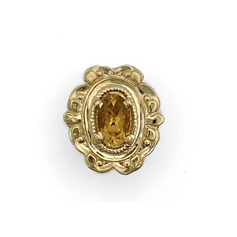 Murphy Pitard Estate Collection Citrine Oval Traditional Slide