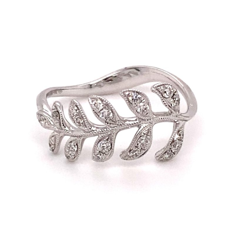 Murphy Pitard Signature Collection Diamond Leaf Fashion Ring