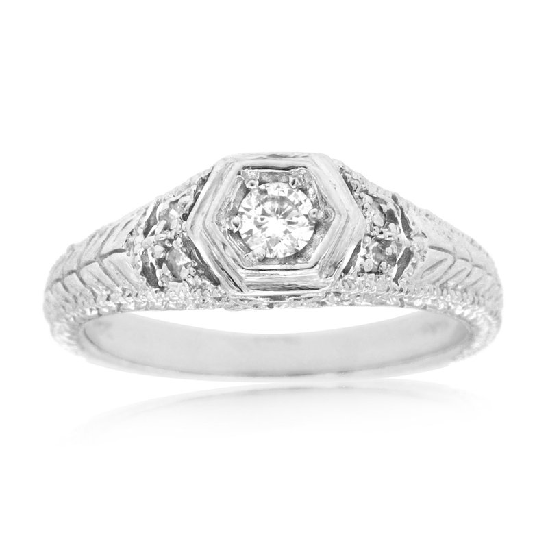 Murphy Pitard Signature Collection Vintage Inspired Diamond Engagement Ring