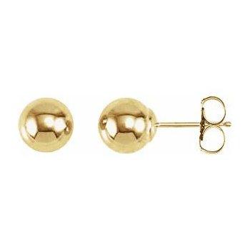Gold 6 Millimeter Ball Earrings