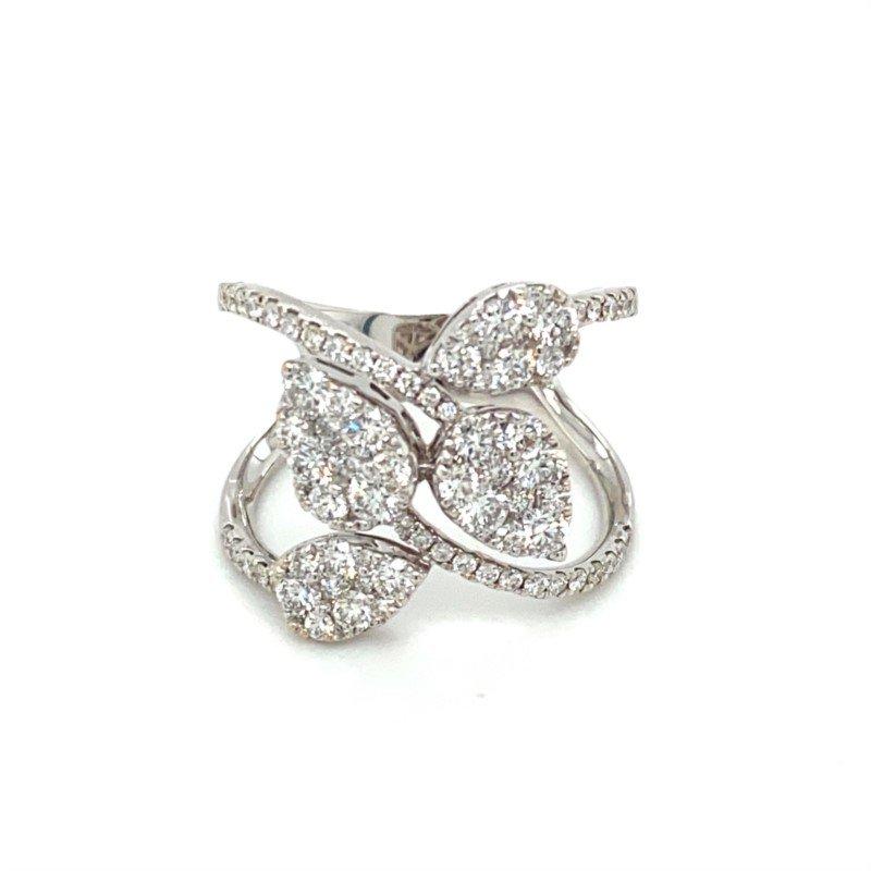 Murphy Pitard Signature Collection Diamond Vine & Leaf Inspired Fashion Ring