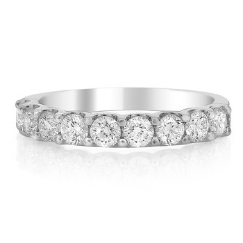 White Diamond 9 Stone 1.0 Carats Anniversary Band