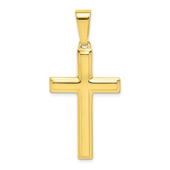 Polished 34x20 Cross Pendant