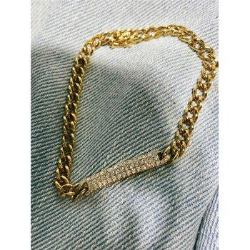 Multi-Row Diamond 1/2 Carats Bar Bracelet