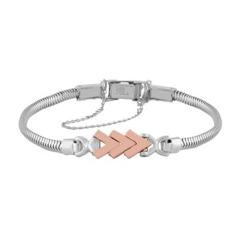 Rose and White Gold Chevron Starter Tennis Bracelet
