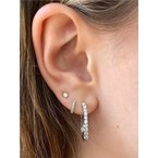 Murphy Pitard Signature Collection Diamond 1/3 Carats Small Inside Out Hoop Earrings