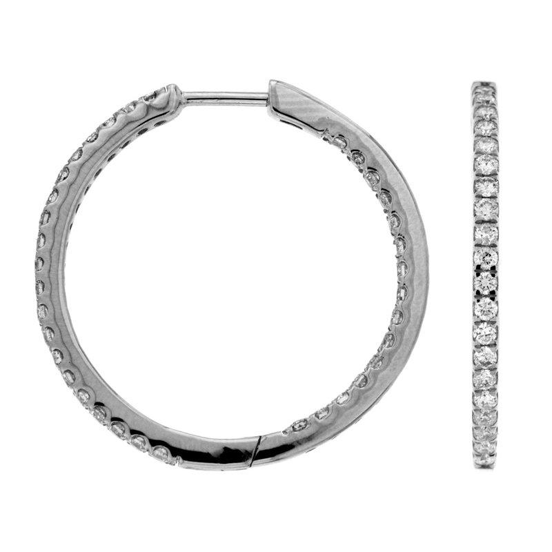 Murphy Pitard Signature Collection Diamond Medium Inside Out Hoop Earrings