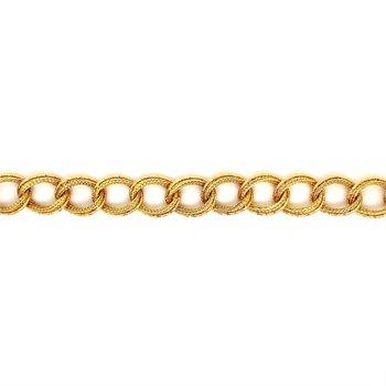 Fancy Link Yellow Gold Bracelet