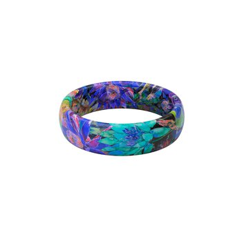 Thin Aspire Twilight Blossom Silicone Ring - Size 9