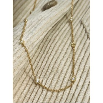 Diamond By The Yard 1/2 Carats Station Necklace