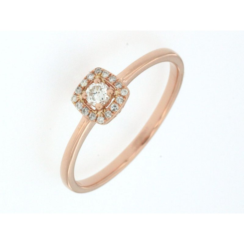 Murphy Pitard Signature Collection Diamond Halo Promise Ring