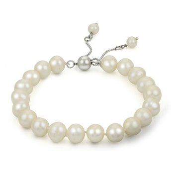 Freshwater Pearl Adjustable Bracelet with Five Pearls