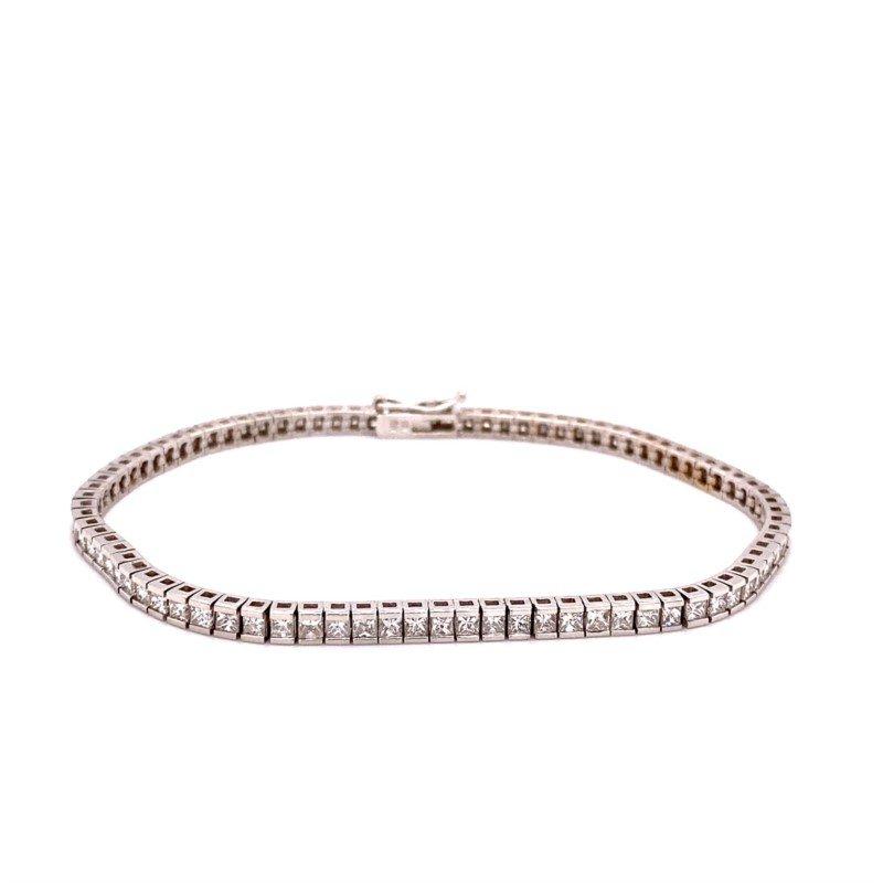Murphy Pitard Signature Collection Princess Cut Diamond Tennis Bracelet