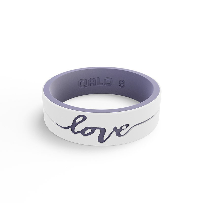 "Qalo Women's ""love"" Silicone Ring Size 5"