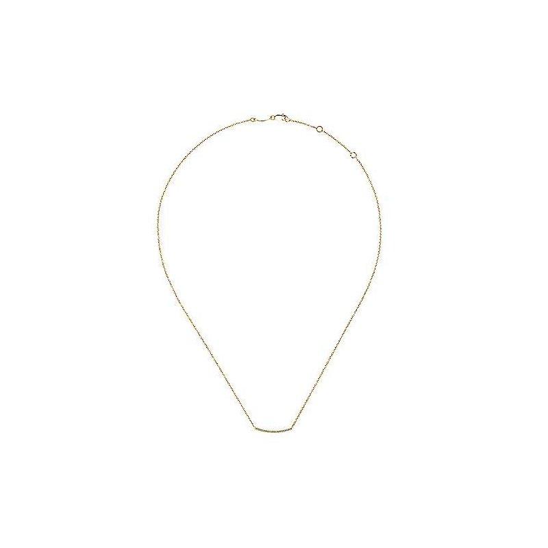 Gabriel & Co. New York Diamond Pavé Curved Bar Necklace