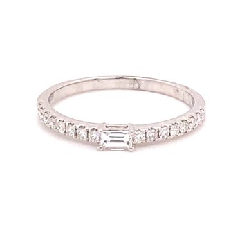 Diamond Stackable Baguette Band