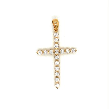 Diamond Shared Prong Cross