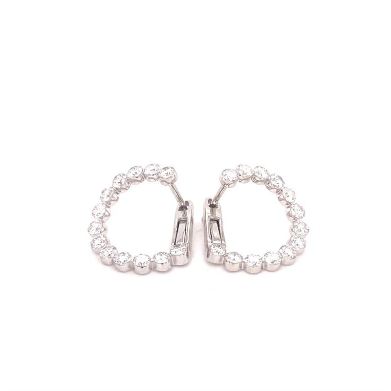 Murphy Pitard Signature Collection Diamond Fashion Hoop Earrings